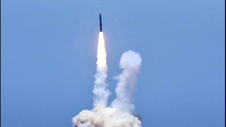 An rocket designed to intercept an intercontinental ballistic missiles is launched from Vandenberg Air Force Base in Calif. on Tuesday, May 30, 2017.