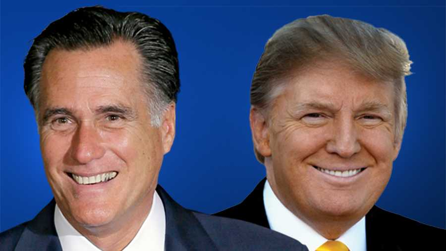 Mitt Romney and Donald Trump