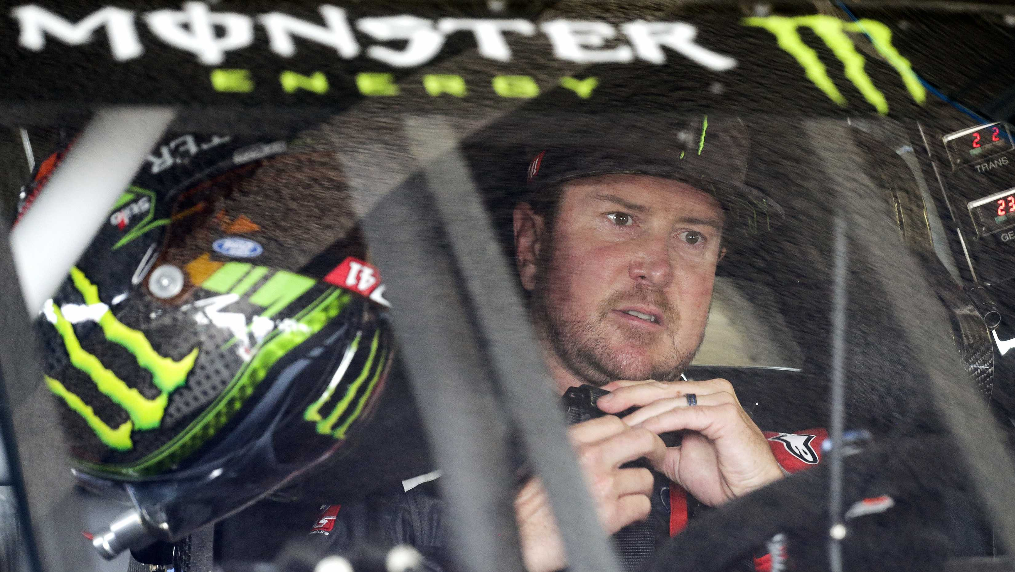 In this Feb. 18, 2017, file photo, Kurt Busch sits behind the wheel as he prepares for NASCAR auto racing practice at Daytona International Speedway in Daytona Beach.