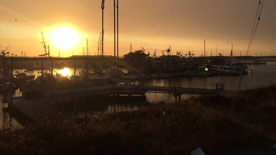 Wildfire smoke drifts over Moss Landing