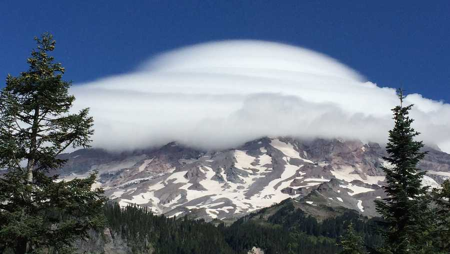 Clouds above Mt. Rainer