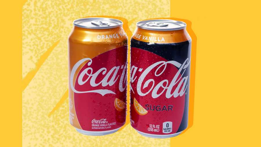 Orange Vanilla Coke Orange Vanilla Coke Zero Sugar hit shelves on February 25.