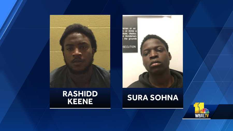Maryland State Police Glen Burnie Barrack say two men are charged with motor vehicle theft , along with other charges after a police pursuit in Anne Arundel County.