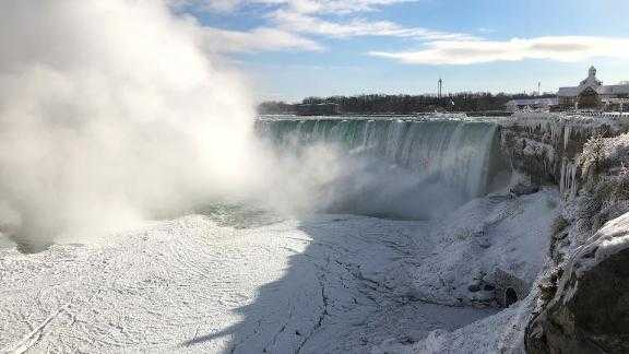 cold snap, Niagara Falls, frozen, ice