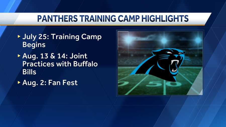 Carolina Panthers training camp schedule