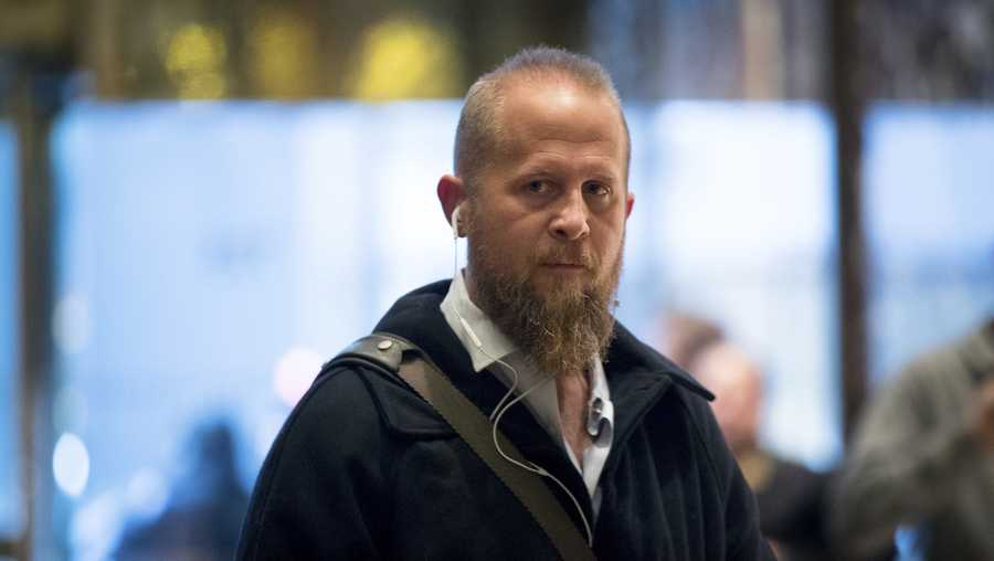In this Dec. 6, 2016 file photo, Brad Parscale arrives at Trump Tower in New York.