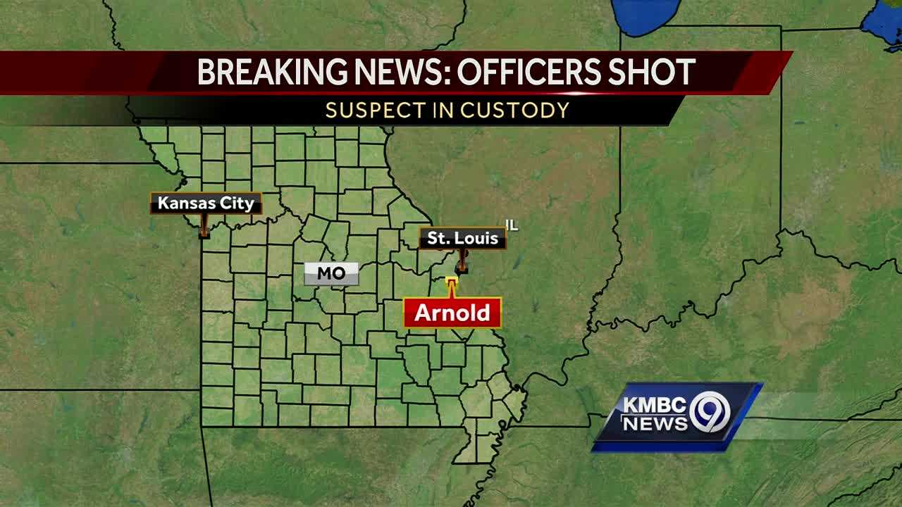 Officers shot in Arnold, Mo.