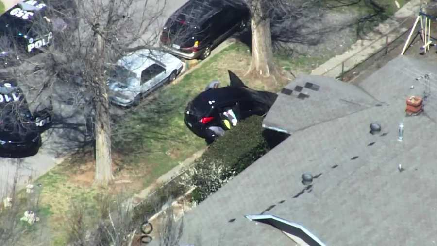 Police searching for driver involved in chase.