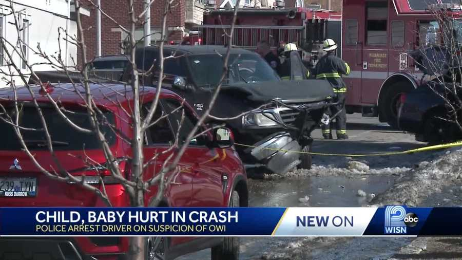A baby was critically injured in a reckless driving crash Monday afternoon