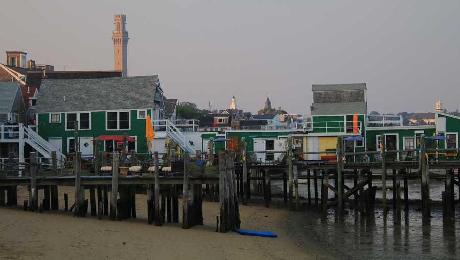 Provincetown docks and waterfront homes