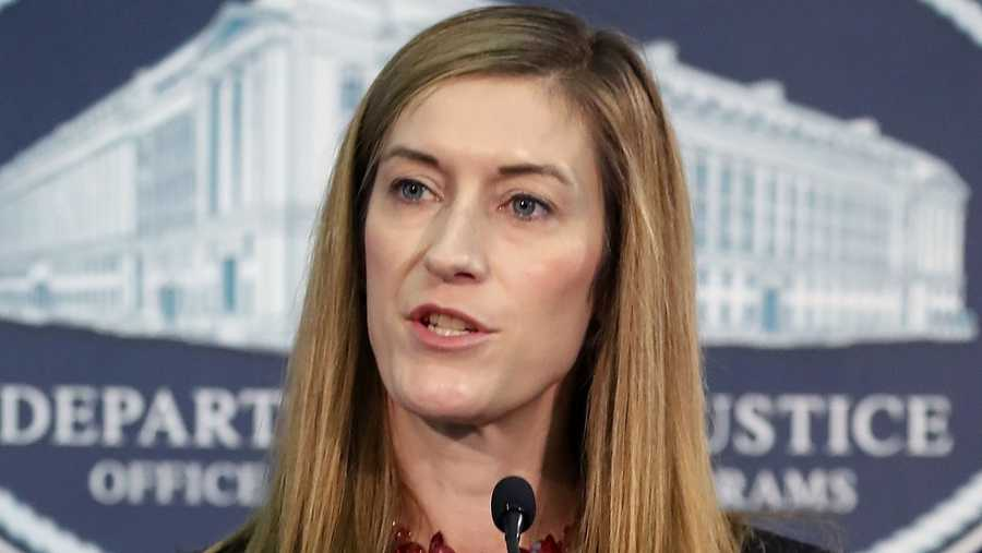 Rachel Brand speaks during a Hate Crimes Subcommittee summit on June 29, 2017 in Washington, DC.