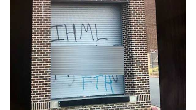 Image result for racist graffiti at howard high school
