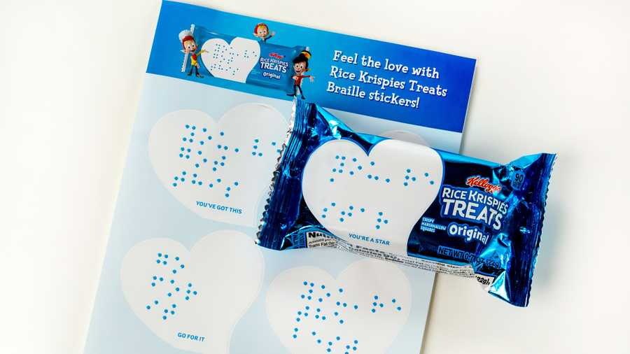 Rice Krispie makes Braille message available for packaging