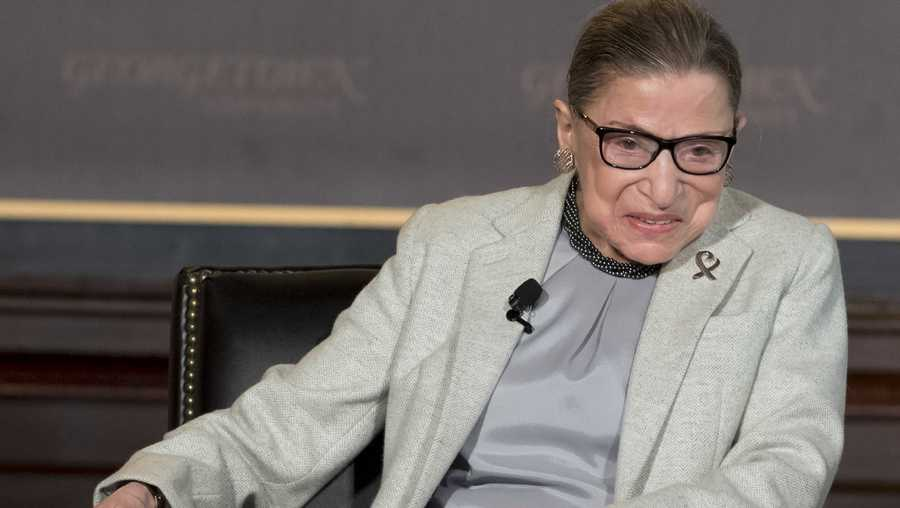 "Justice Ruth Bader Ginsburg made what is believed to be her first public appearance since her December cancer surgery when she attended a performance of ""Notorious RBG in Song"" on Monday, the Supreme Court spokesperson told CNN."