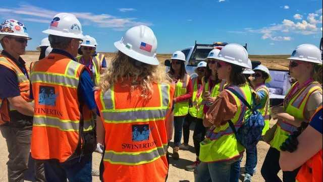 Throughout Transportation and Construction Girl Career Days, participating girls will tour five job sites and hear from women in male-dominated fields.