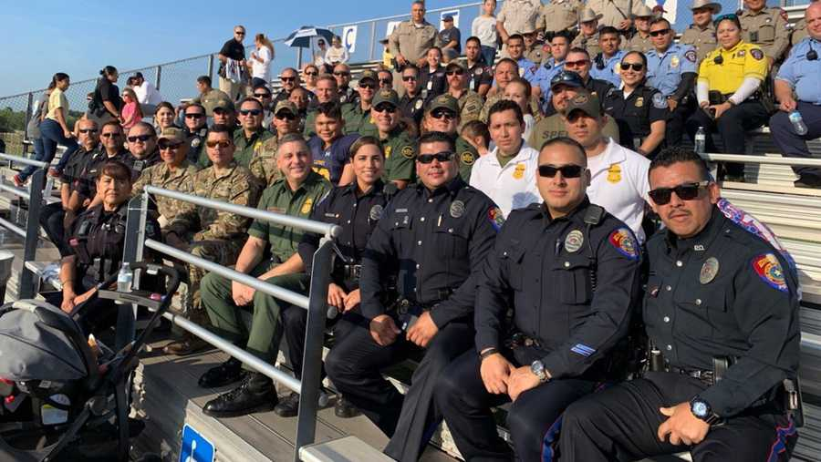"Officers from across south Texas took his place. The Mission Police Department, Hidalgo County Sheriff's Office and US Customs and Border Protection were among a ""sea of law enforcement"" who went to Cathey Middle School in McAllen to watch Espericueta's son, Joaquin, play in his first 7th grade football game, where he was named an honorary captain."