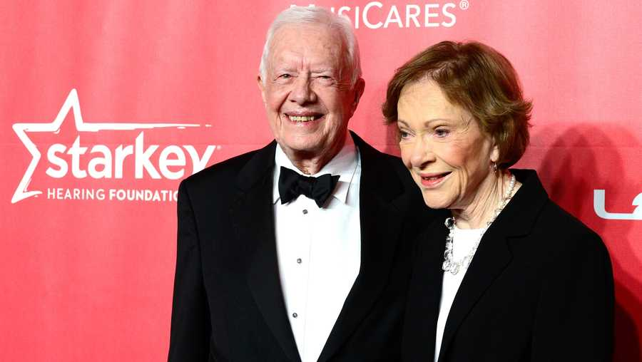 President Jimmy Carter and his wife, Rosalynn, are the longest married presidential couple.