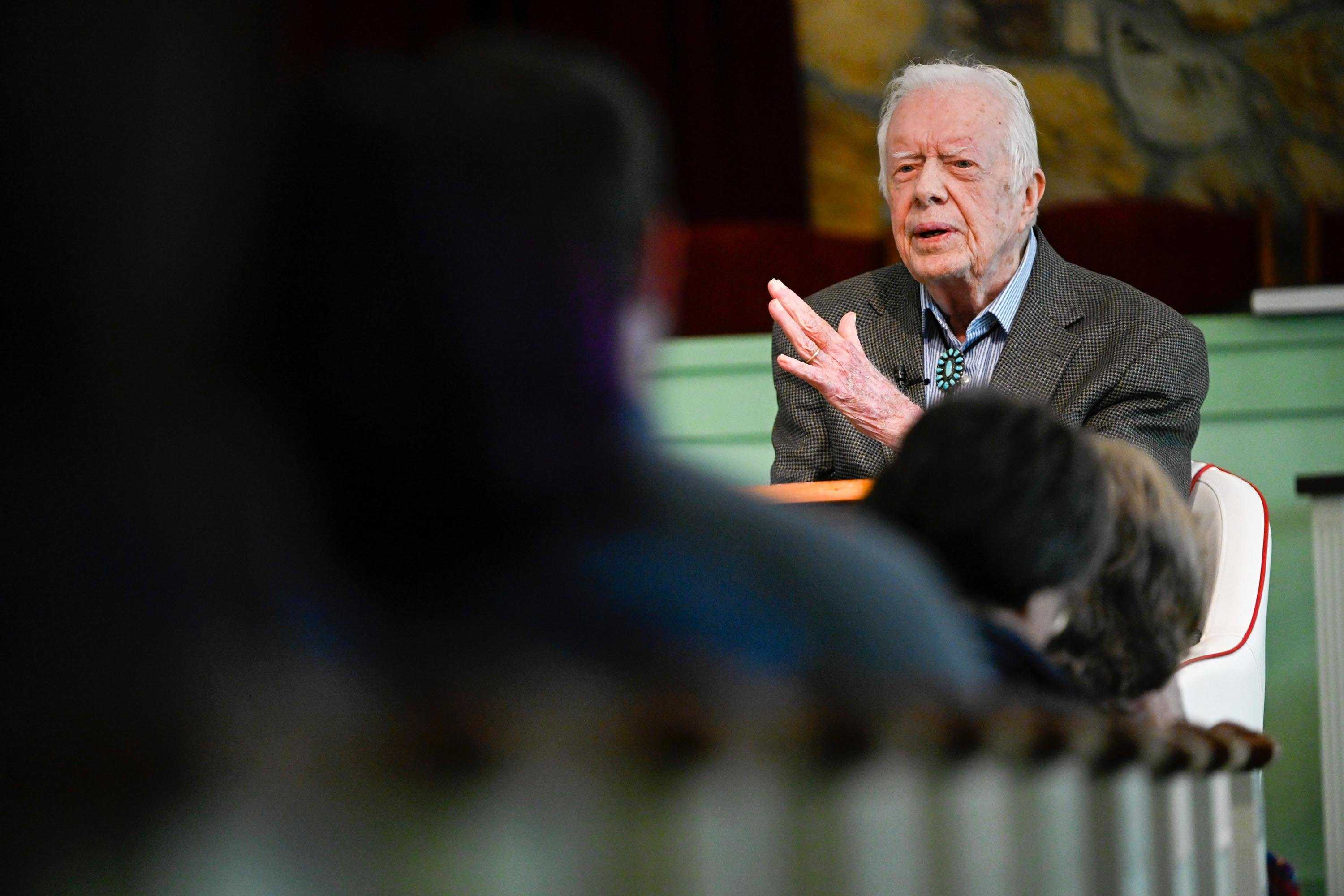 'Don't get discouraged': Former President Carter's church prays for recovery after hospitalization