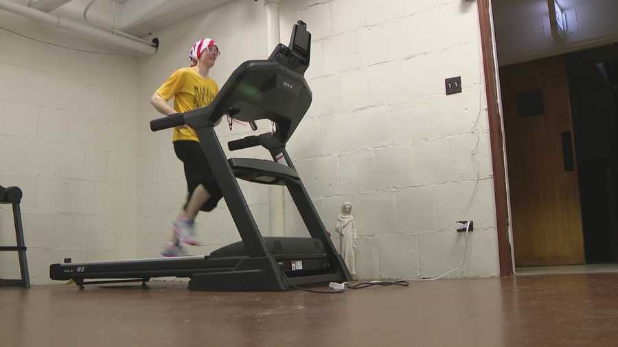 "Sister Stephanie Baliga, a Chicago area nun, is giving new meaning to ""godspeed"" as she uses her wicked fast marathon speed to put food on her neighbors' tables."