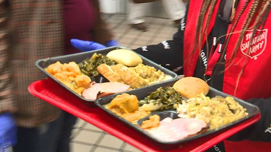 Thanksgiving Day meals served at Birmingham Salvation Army