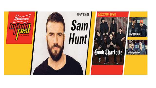 Sam Hunt and Good Charlotte are among the headliners for the 2017 Preakness Budweiser InfieldFest.