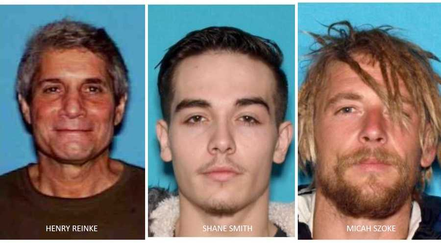 70-year-old Henry Reinke, 21-year-old Shane Smith and 37-year-old Micah Szoke.