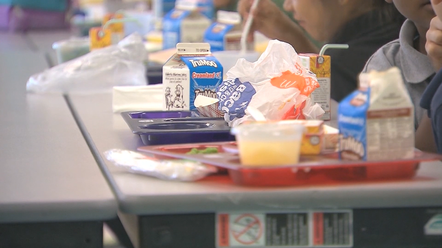 School lunches at Harp Elementary in Springdale