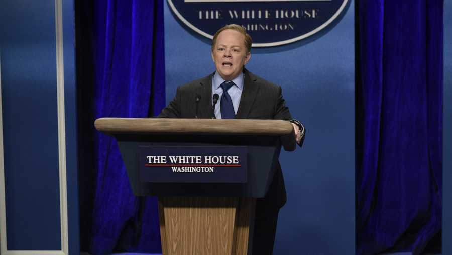 Melissa McCarthy as Sean Spicer on 'SNL.'