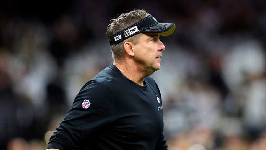 Head coach Sean Payton of the New Orleans Saints looks on before the NFC Wild Card Playoff game against the Minnesota Vikings at Mercedes Benz Superdome on January 05, 2020 in New Orleans, Louisiana.