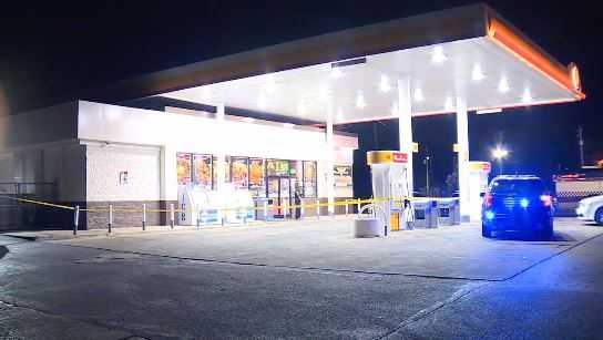 Altercation inside gas station