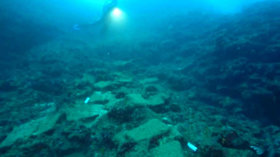 The remains of the suspected merchant vessel reportedly date back to 1600 B.C.