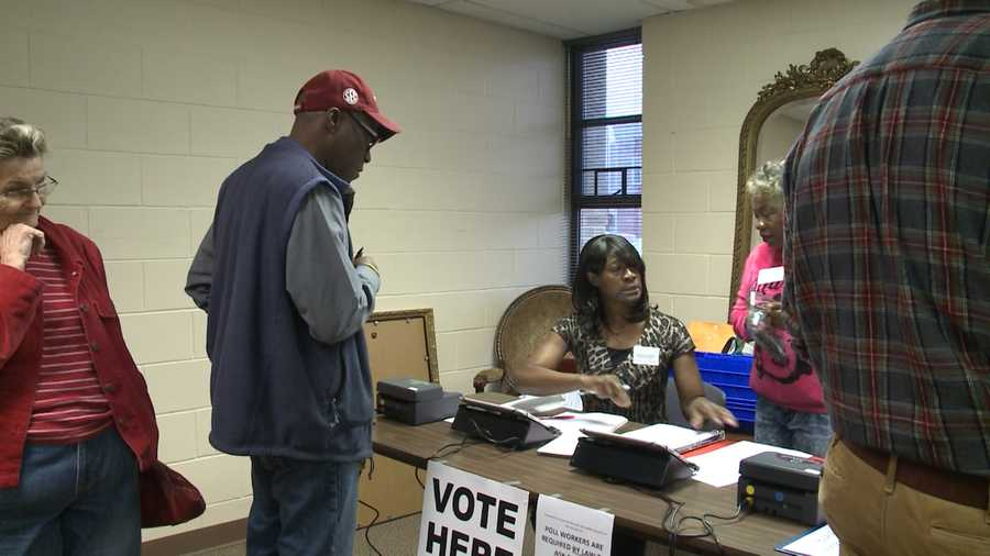 Voters at the 6th Street polling place in Fort Smith
