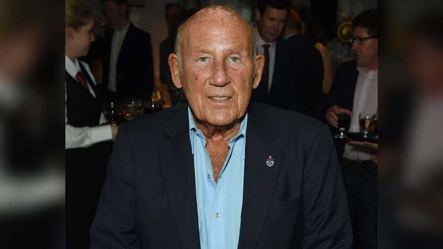 Stirling Moss attends the Mark Webber book launch - Aussie Grit: My Formula One Journey at the Ham Yard Hotel on Sept. 9, 2015 in London, England.