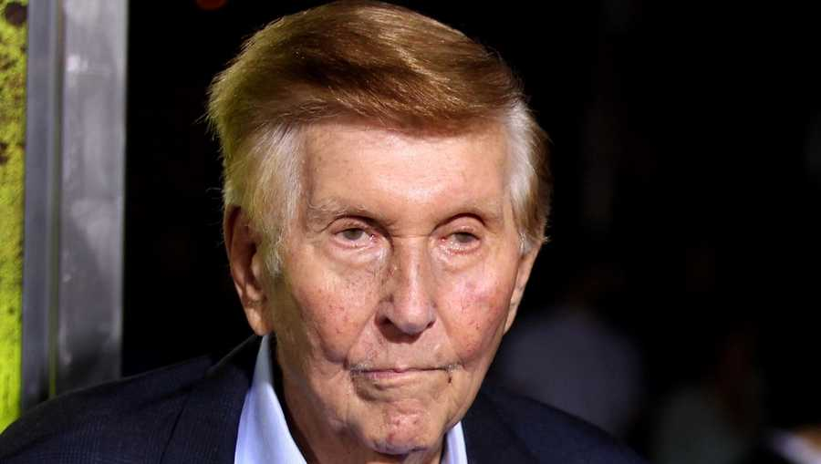 "In this Oct. 1, 2012, file photo, Sumner Redstone attends the premiere of ""Seven Psychopaths"" in Los Angeles."