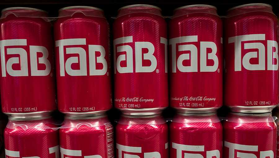 Cans of diet cola Tab brand soft drink produced by the Coca-Cola Company are displayed at a supermarket in the Brooklyn borough of New York, on Tuesday, July 26, 2011.