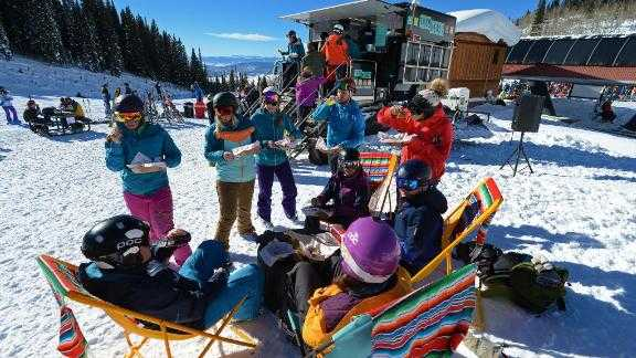 You can now get tacos halfway through your run at Steamboat. The resort's taco truck is built on the back of a snowcat and serves skiers slopeside.