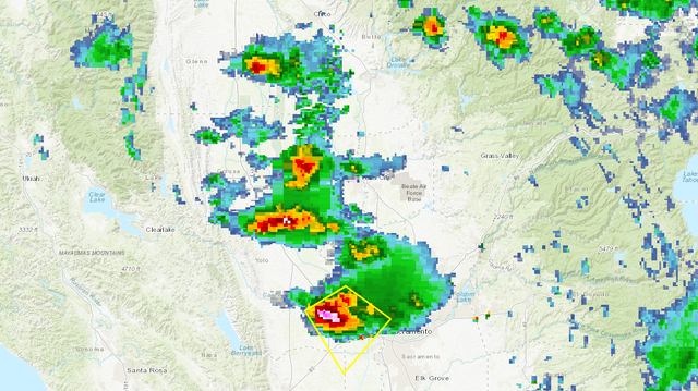 Severe thunderstorm warning issued for Sacramento, Solano, Sutter, Yolo counties
