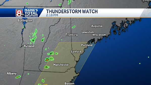 Severe thunderstorm watch issued for parts of Maine