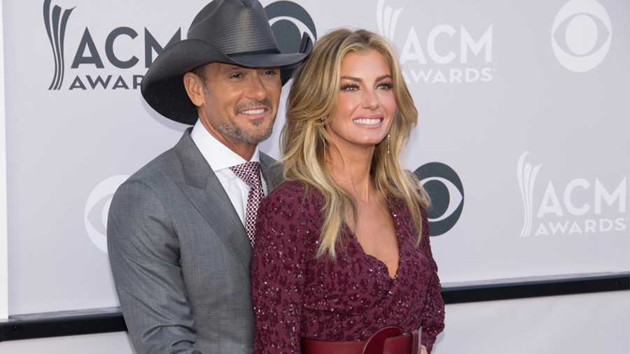 Tim McGraw and Faith Hill, ACM Awards.