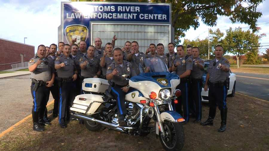 In a photo taken before social distancing took hold, members of the Toms River Fraternal Order of Police Union, Toms River Police Foundation, and Toms River Police Benevolent Association strike a pose.