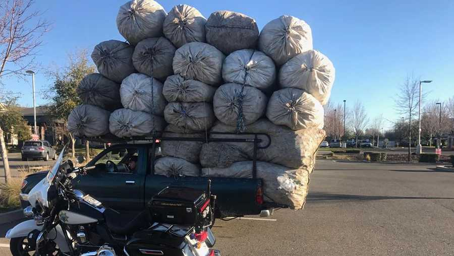 "CHP officer stops truck with ""unsafe load"""