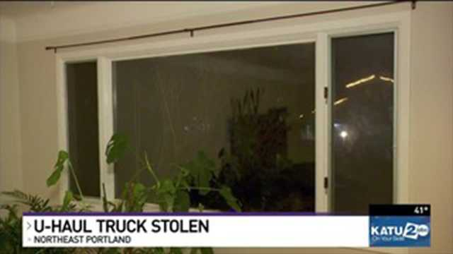 Portland couple has U-Haul truck stolen right before big move to California.