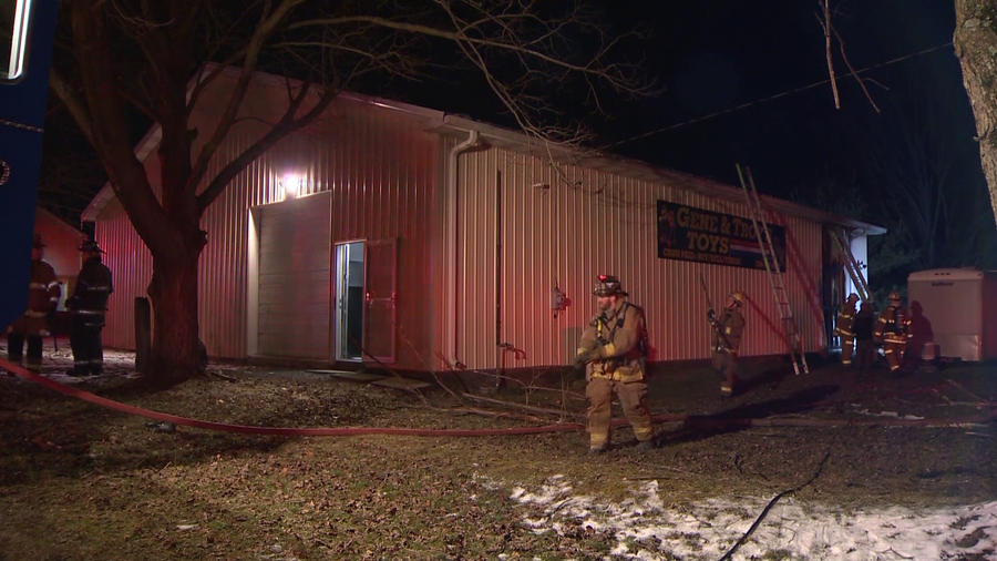 Crews respond to fire at toy store in Youngwood