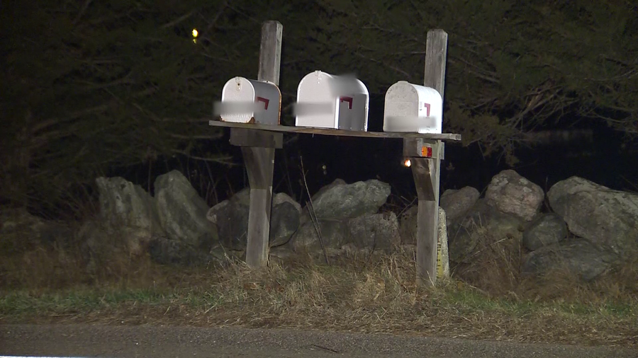 A mailbox was replaced after being destroyed by an explosive device.
