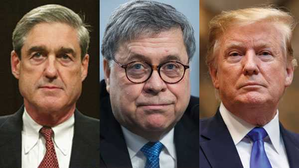 Robert Mueller, William Barr, Donald Trump