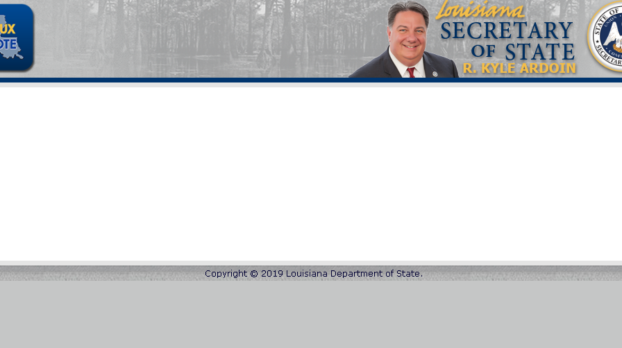 Secretary of State website down