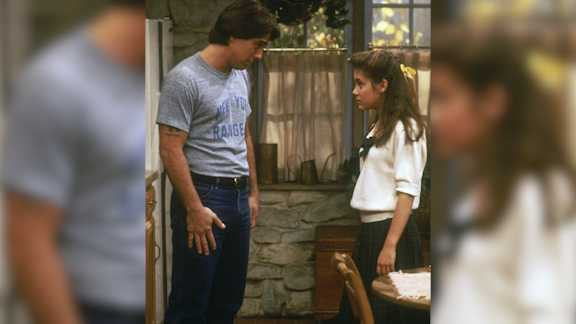 "This image provided by Sony Pictures Television shows Tony Danza, left, as Tony Micelli and Alyssa Milano as Samantha Micelli in a scene from ""Who's The Boss."" A sequel to the 1980s-'90s sitcom is in the works at Sony Pictures Television, with Danza and Milano set to reprise their father-daughter roles."