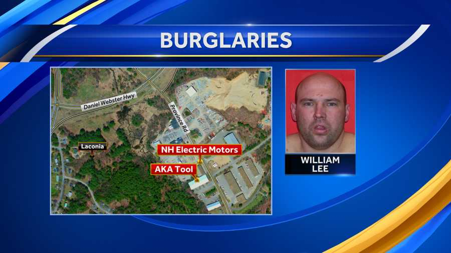 Man arrested in connection to Laconia burglaries