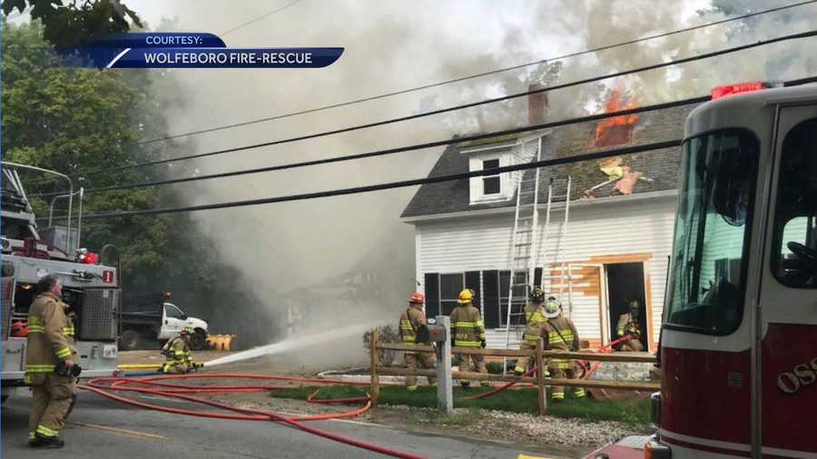 Crews from eight departments assist with house fire in Wolfeboro
