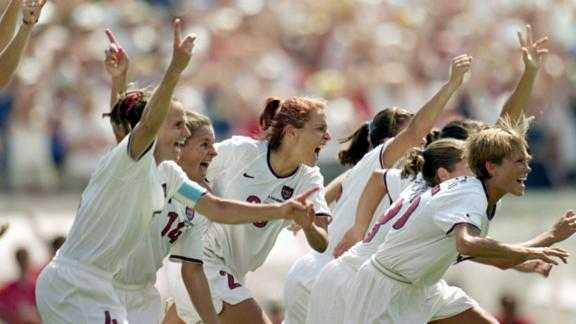 US players from the victorious '99 World Cup team -- widely credited with changing attitudes towards the women's game --remember the tournament 20 years ago.